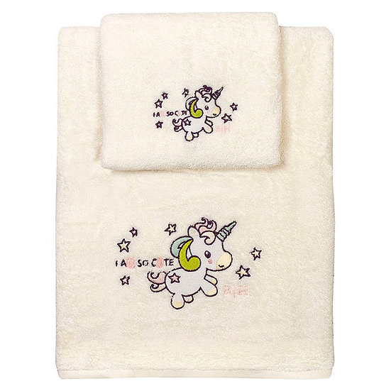 Σετ πετσέτες Art 5155 - Σετ 2τμχ Εκρού Beauty Home