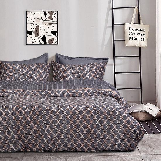 Σετ κουβερλί μονό Atalanta Art 1971 160×240 Γκρι,Μπεζ Beauty Home