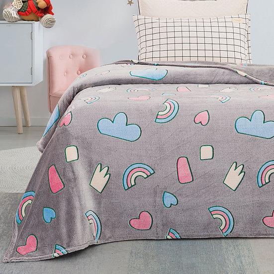 Κουβέρτα μονή φωσφορίζουσα Art 6133 - 160x220 Εμπριμέ Beauty Home