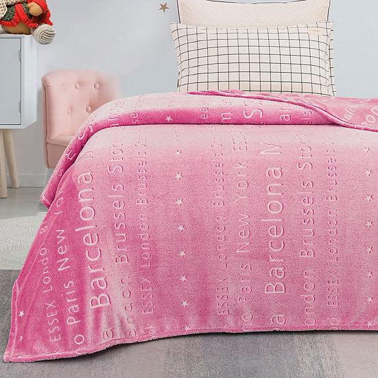 Κουβέρτα μονή φωσφορίζουσα Art 6134 - 160x220 Εμπριμέ Beauty Home