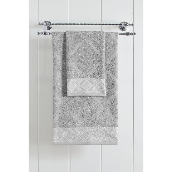 Πετσέτα μπάνιου Art 3232 - 70x140 Γκρι Beauty Home