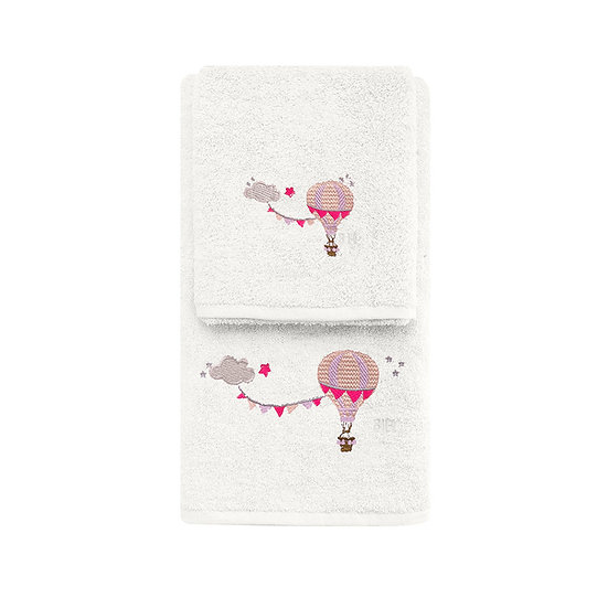 Σετ πετσέτες Art 5208 - Σετ 2τμχ Εκρού Beauty Home