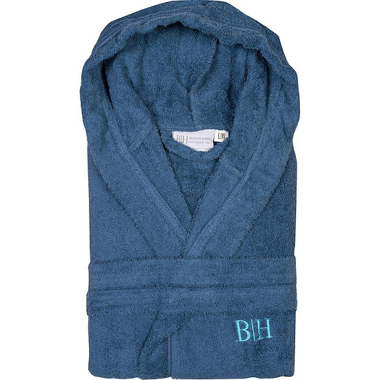Μπουρνούζι με κουκούλα Art 3271 - XL-XXL Μπλε Beauty Home