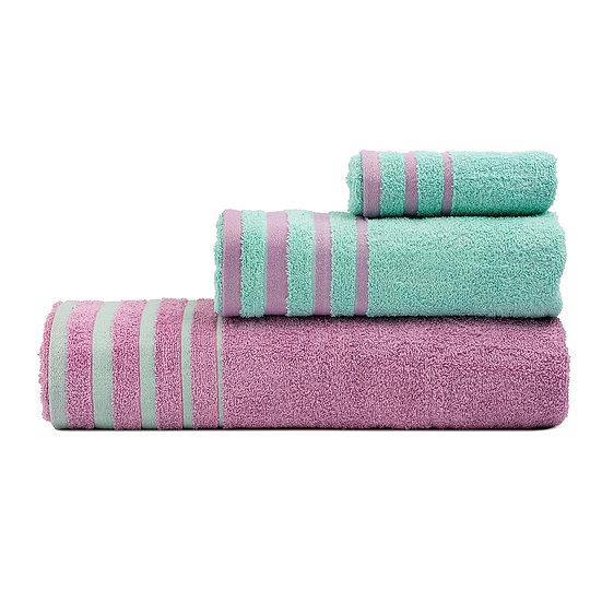 Σετ πετσέτες Art 3311 - Σετ 3τμχ Βεραμάν, Ροζ Beauty Home
