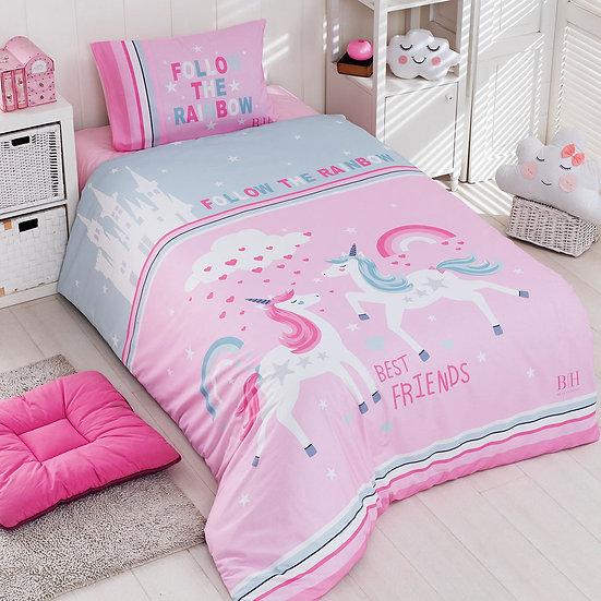 Πάπλωμα μονό Rainbow Art 6164 - 160x240 Μέντα, Ροζ Beauty Home