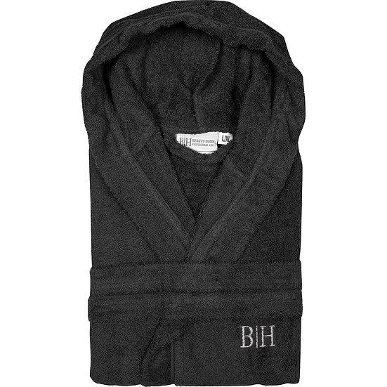 Μπουρνούζι με κουκούλα Art 3274 - XL-XXL Μαύρο Beauty Home