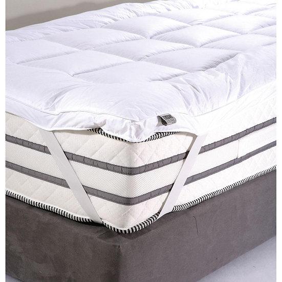 Ανώστρωμα Velvet 160x200 - 160x200 Λευκό Beauty Home