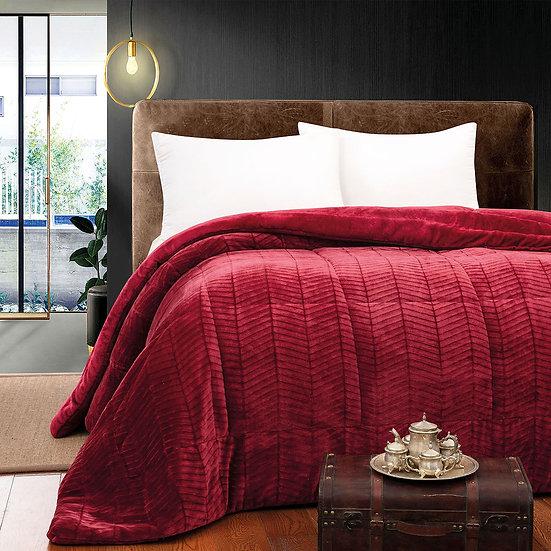 Κουβερτο-πάπλωμα υπέρδιπλο Art 1792 - 220x240 Κόκκινο Beauty Home