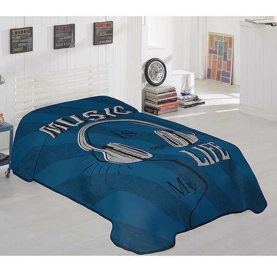 Κουβέρτα μονή Art 6116 - 160x220 Εμπριμέ Beauty Home