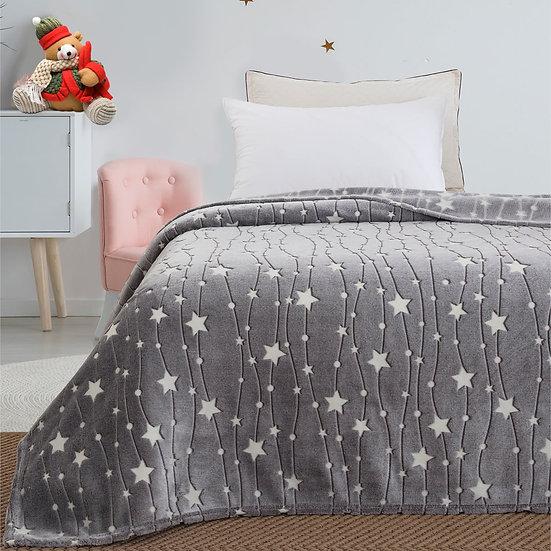 Κουβέρτα μονή φωσφορίζουσα Art 6136 - 160x220 Γκρι Beauty Home