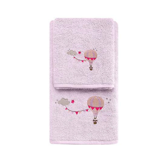 Σετ πετσέτες Art 5209 - Σετ 2τμχ Μωβ Beauty Home