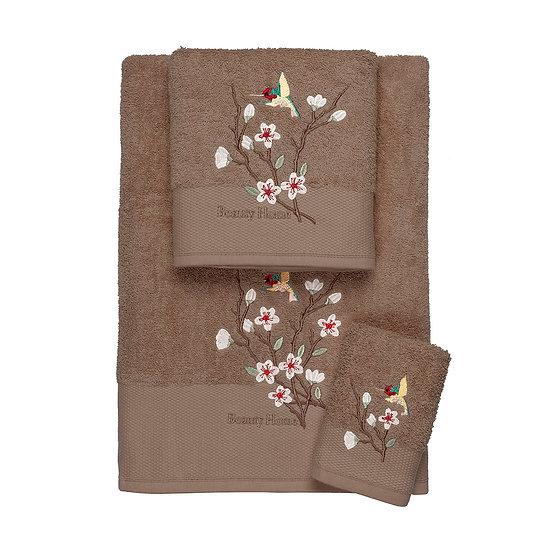 Σετ πετσέτες Art 3303 - Σετ 3τμχ Καφέ Beauty Home