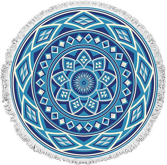Πετσέτα θαλάσσης Art 2034 Φ160 Μπλε Beauty Home