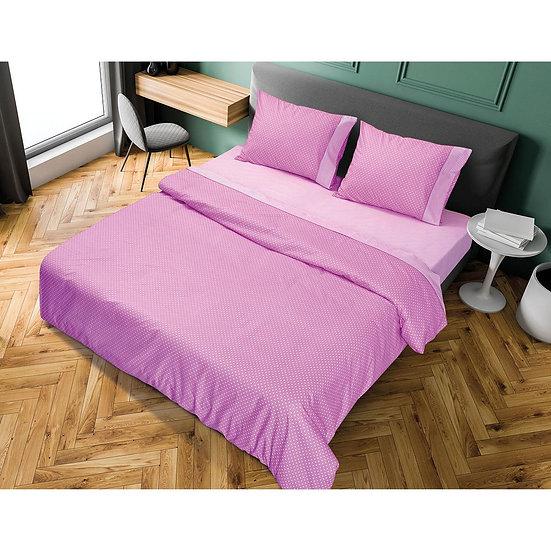 Σετ σεντόνια υπέρδιπλα πουά JOY σε 8 χρώματα - 230x240 Μωβ Beauty Home