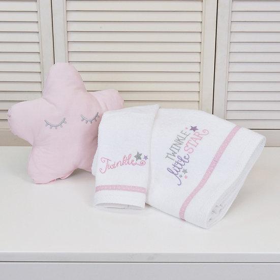 Βρεφικές Πετσέτες (Σετ 2τμχ) Baby Oliver Twinkle Twinkle Pink 352