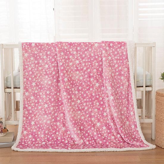 Κουβέρτα κούνιας art 5136 110x140 pink