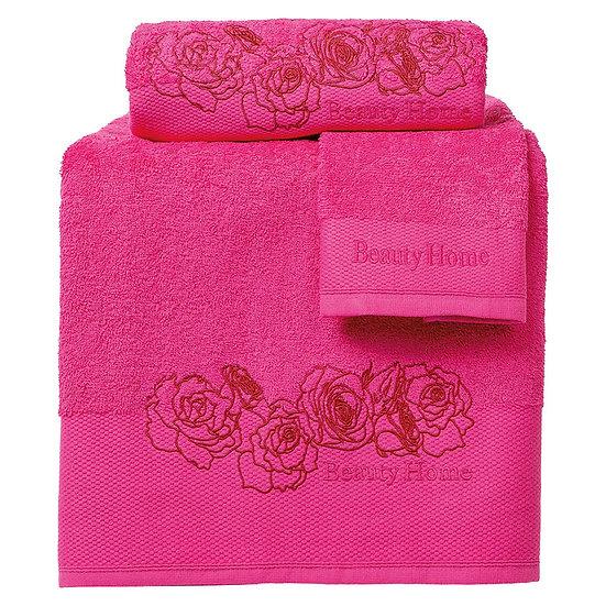 Σετ πετσέτες Art 3256 - Σετ 3τμχ Φουξ Beauty Home