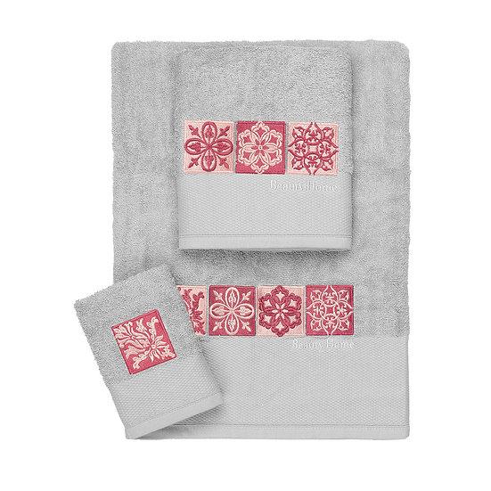 Σετ πετσέτες Art 3308 - Σετ 3τμχ Γκρι Beauty Home