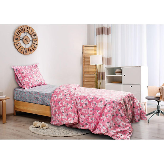 Κουβερλί μονό Characters - 160x240 Γκρι, Ροζ Beauty Home