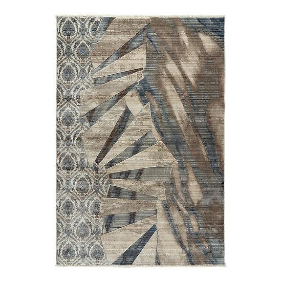 Χαλί Bliss Art 9628 - 160x240 Μόκα, Μπεζ, Μπλε Beauty Home