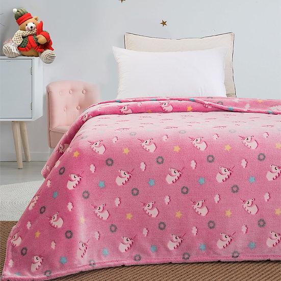 Κουβέρτα μονή φωσφορίζουσα Art 6093 - 160x220 Ροζ Beauty Home