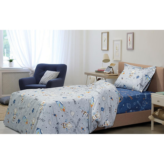 Σετ σεντόνια μονά Energy Art 6173 170x240 Γκρι,Μπλε Beauty Home