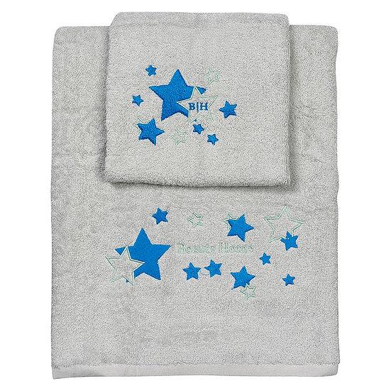 Σετ πετσέτες Art 5147 - Σετ 2τμχ Γκρι Beauty Home