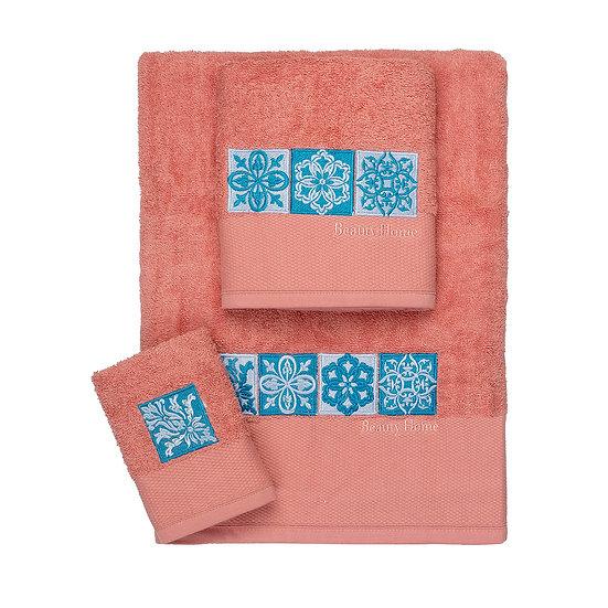 Σετ πετσέτες Art 3309 - Σετ 3τμχ Κοραλί Beauty Home