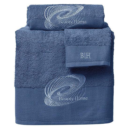 Σετ πετσέτες Art 3255 - Σετ 3τμχ Μπλε Beauty Home