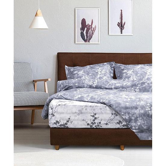 Παπλωματοθήκη υπέρδιπλη Hyndragea - 220x240 Εμπριμέ Beauty Home