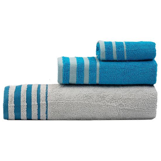 Σετ πετσέτες Art 3310 - Σετ 3τμχ Γκρι, Τυρκουάζ Beauty Home