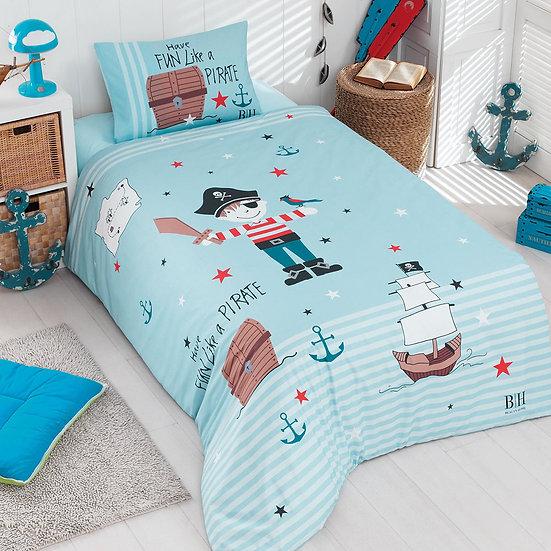 Παπλωματοθήκη μονή Pirate Art 6168 - 160x240 Γαλάζιο Beauty Home