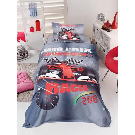 Πάπλωμα μονό Racer - 160x240 Γκρι, Κόκκινο Beauty Home