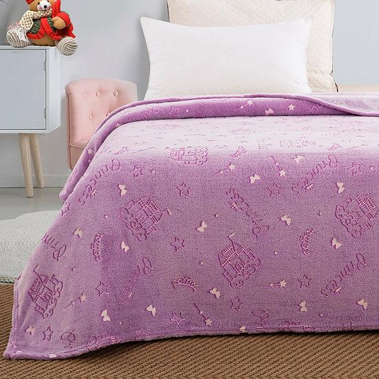 Κουβέρτα μονή φωσφορίζουσα Art 6146 160x220 Λιλά Beauty Home