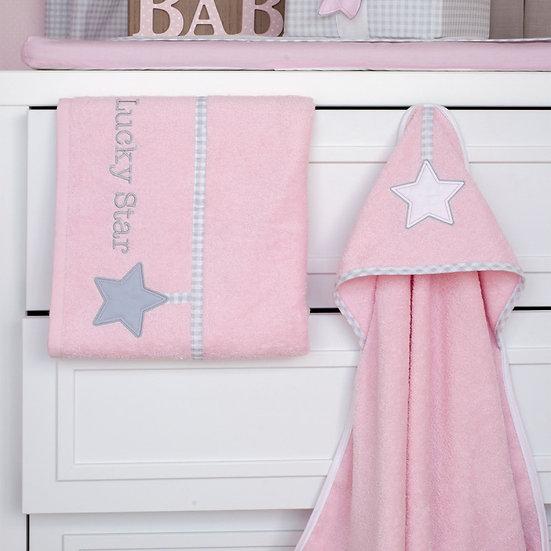 Βρεφικές Πετσέτες (Σετ 2τμχ) Baby Oliver Lucky Star Pink 308