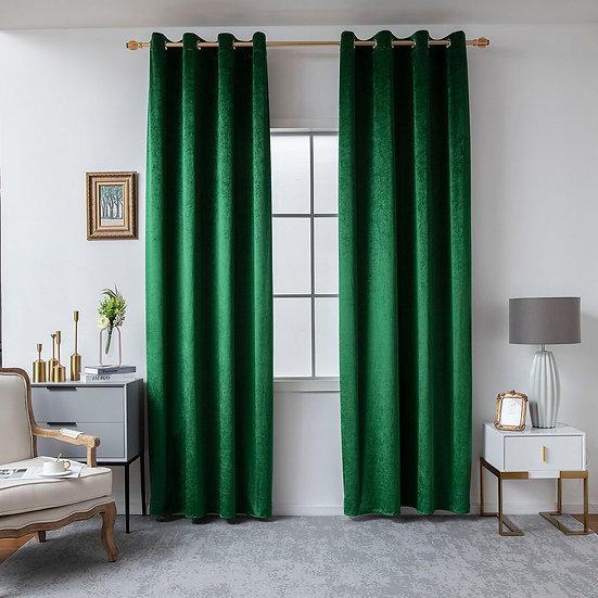 Κουρτίνα βελούδο σκίασης με 8 κρίκους Art 8399 140×270 Πράσινο