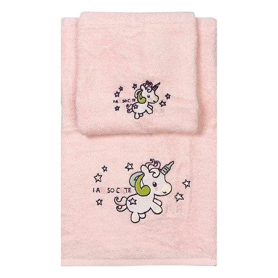 Σετ πετσέτες Art 5152 - Σετ 2τμχ Ροζ Beauty Home