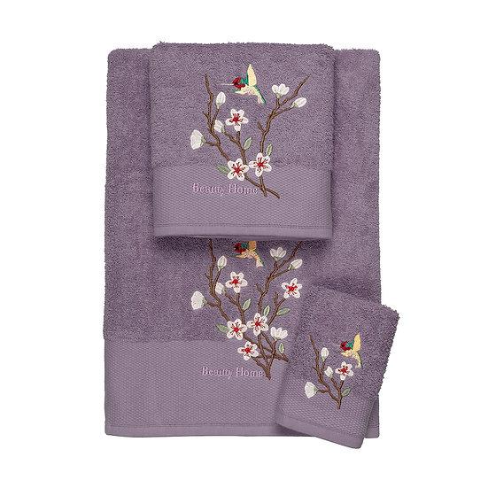 Σετ πετσέτες Art 3301 - Σετ 3τμχ Μωβ Beauty Home
