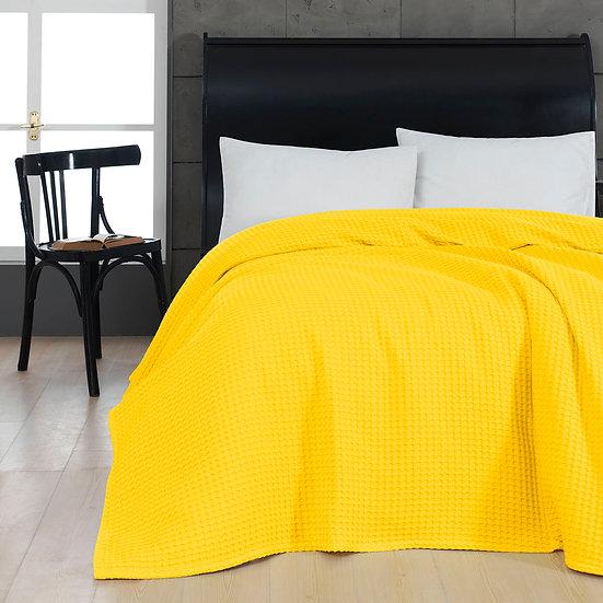 Πικέ μονή waffle Art 1990 Yellow - 170x240 Κίτρινο Beauty Home