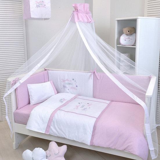 Σετ Κούνιας 4τμχ Baby Oliver Twinkle Twinkle Pink 352