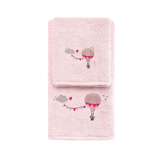 Σετ πετσέτες Art 5207 - Σετ 2τμχ Ροζ Beauty Home