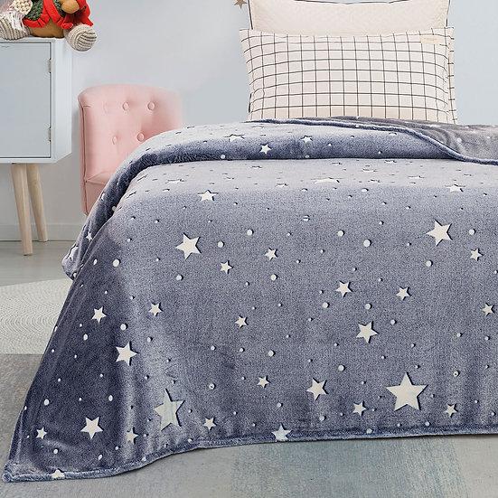 Κουβέρτα μονή φωσφορίζουσα Art 6131 - 160x220 Εμπριμέ Beauty Home