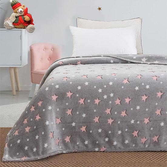 Κουβέρτα μονή φωσφορίζουσα Art 6129 - 160x220 Γκρι Beauty Home
