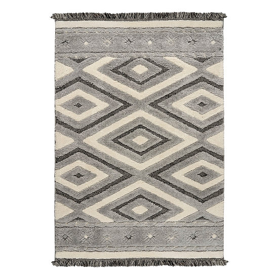 Χαλί Everest Art 9622 Grey/Grey - 133x190 Γκρι, Εκρού Beauty Home