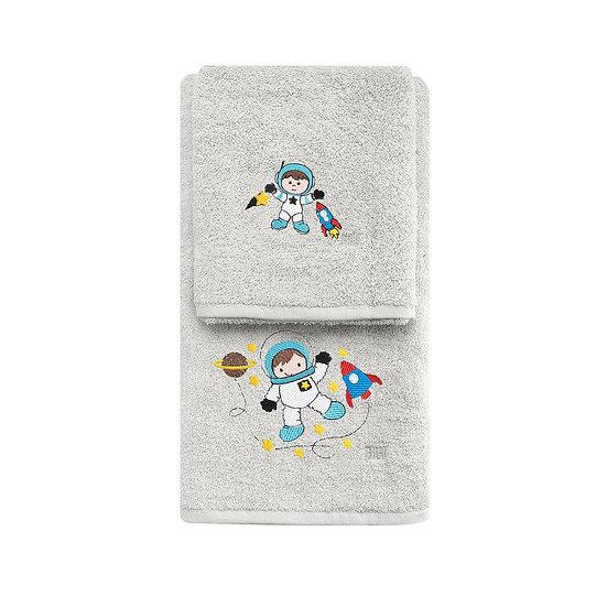 Σετ πετσέτες Art 5206 - Σετ 2τμχ Γκρι Beauty Home
