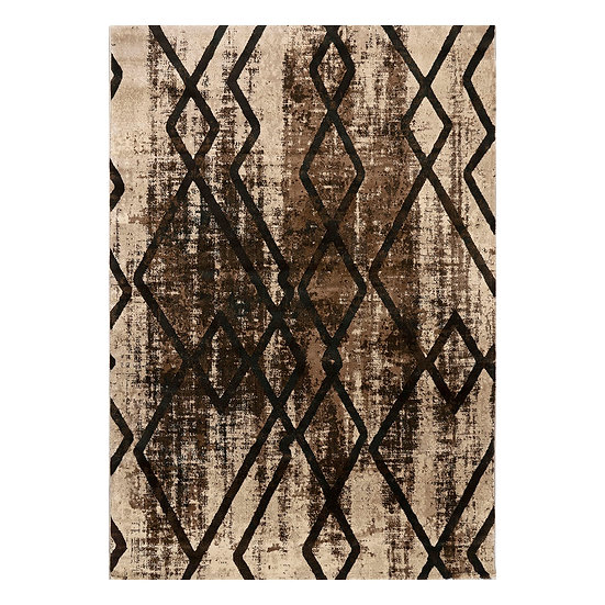 Χαλί Element Art 9707 Beige/Brown - 200x290 Καφέ, Μπεζ Beauty Home