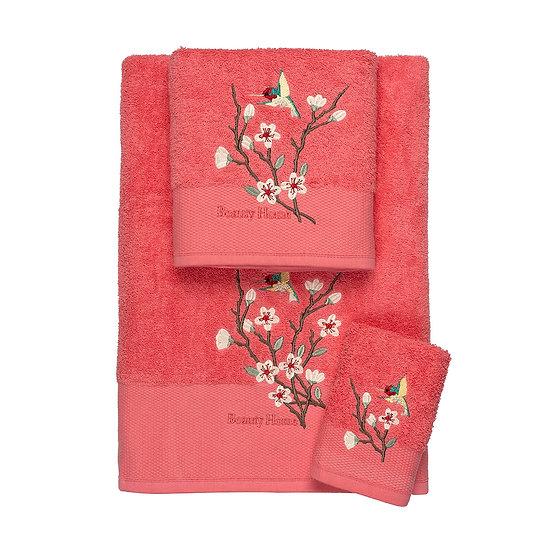 Σετ πετσέτες Art 3300 - Σετ 3τμχ Κοραλί Beauty Home