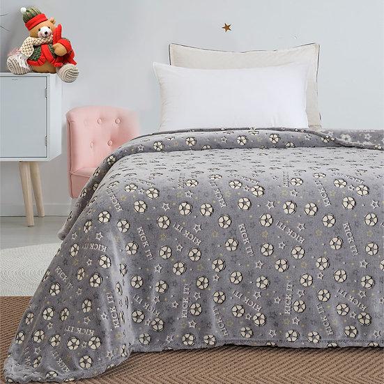 Κουβέρτα μονή φωσφορίζουσα Art 6127 - 160x220 Γκρι Beauty Home