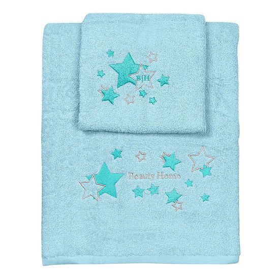 Σετ πετσέτες Art 5148 - Σετ 2τμχ Γαλάζιο Beauty Home
