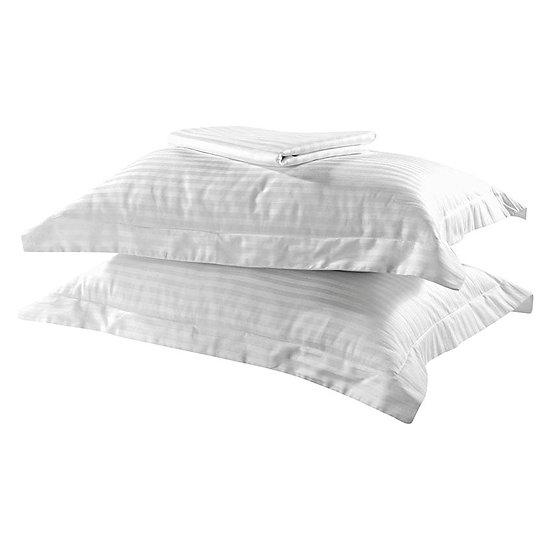 Σετ πάπλωμα μονό Dobby Stripe Art 1381 160×240 Λευκό Beauty Home